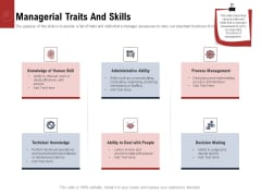Leadership And Management Managerial Traits And Skills Structure PDF