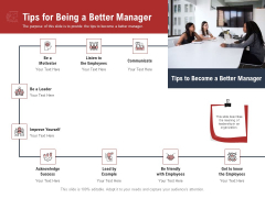 Leadership And Management Tips For Being A Better Manager Graphics PDF