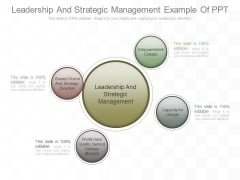 Leadership And Strategic Management Example Of Ppt
