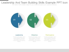 Leadership And Team Building Skills Example Ppt Icon