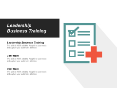 Leadership Business Training Ppt PowerPoint Presentation Portfolio Influencers Cpb