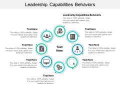 Leadership Capabilities Behaviors Ppt PowerPoint Presentation Infographic Template Slide Cpb