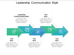 Leadership Communication Style Ppt PowerPoint Presentation Infographics Outfit Cpb