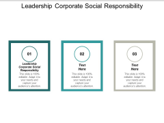 Leadership Corporate Social Responsibility Ppt PowerPoint Presentation Outline Show Cpb