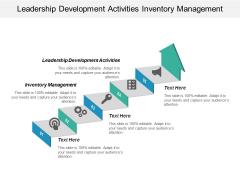 Leadership Development Activities Inventory Management Ppt PowerPoint Presentation Ideas Demonstration