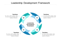 Leadership Development Framework Ppt PowerPoint Presentation Gallery Master Slide Cpb