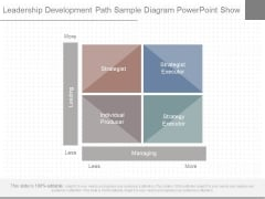 Leadership Development Path Sample Diagram Powerpoint Show