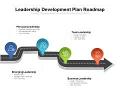 Leadership Development Plan Roadmap Ppt PowerPoint Presentation Gallery Shapes PDF