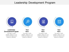 Leadership Development Program Ppt PowerPoint Presentation Professional Deck Cpb