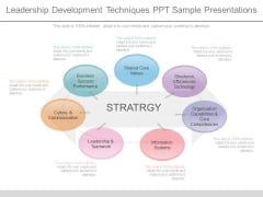 Leadership Development Techniques Ppt Sample Presentations