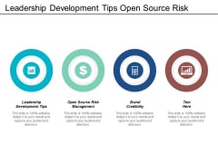 Leadership Development Tips Open Source Risk Management Brand Credibility Ppt PowerPoint Presentation Outline Example