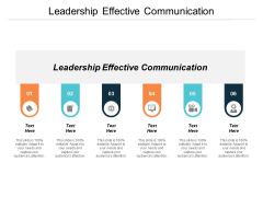 Leadership Effective Communication Ppt PowerPoint Presentation Layouts Example Cpb