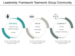 Leadership Framework Teamwork Group Community Ppt PowerPoint Presentation Icon Guide