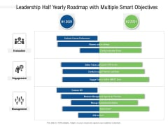 Leadership Half Yearly Roadmap With Multiple Smart Objectives Professional