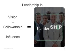 Leadership Is Ppt PowerPoint Presentation Pictures