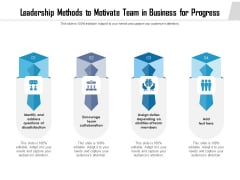 Leadership Methods To Motivate Team In Business For Progress Ppt PowerPoint Presentation File Summary PDF