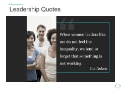 Leadership Quotes Template 1 Ppt PowerPoint Presentation Template