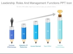 Leadership Roles And Management Functions Ppt Icon