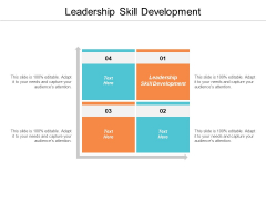 Leadership Skill Development Ppt PowerPoint Presentation Pictures Mockup Cpb