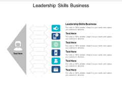 Leadership Skills Business Ppt PowerPoint Presentation Professional Layout Cpb