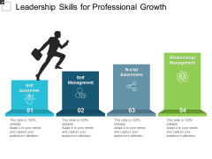 Leadership Skills For Professional Growth Ppt PowerPoint Presentation Infographic Template Deck