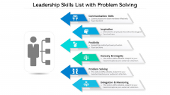 Leadership Skills List With Problem Solving Ppt PowerPoint Presentation Gallery Clipart PDF