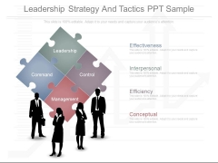 Leadership Strategy And Tactics Ppt Sample