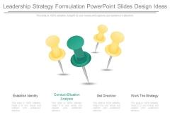Leadership Strategy Formulation Powerpoint Slides Design Ideas