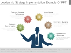 Leadership Strategy Implementation Example Of Ppt