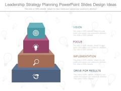 Leadership Strategy Planning Powerpoint Slides Design Ideas