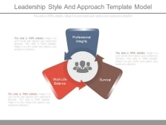 Leadership Style And Approach Template Model