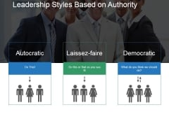 Leadership Styles Based On Authority Template 1 Ppt PowerPoint Presentation Layout