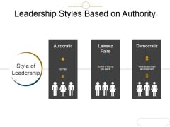 Leadership Styles Based On Authority Template 1 Ppt PowerPoint Presentation Microsoft