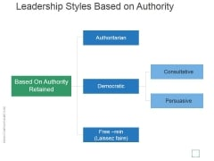 Leadership Styles Based On Authority Template 2 Ppt PowerPoint Presentation Visuals
