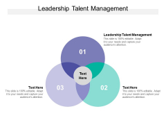 Leadership Talent Management Ppt PowerPoint Presentation Outline Graphics Download Cpb