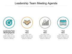 Leadership Team Meeting Agenda Ppt PowerPoint Presentation Layouts Guide Cpb
