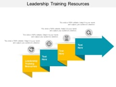 Leadership Training Resources Ppt PowerPoint Presentation Layouts Layout Ideas Cpb