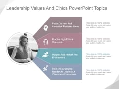 Leadership Values And Ethics Ppt PowerPoint Presentation Visual Aids