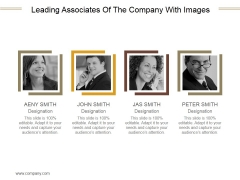Leading Associates Of The Company With Images Ppt PowerPoint Presentation Example