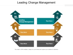 Leading Change Management Ppt PowerPoint Presentation Infographics Example File Cpb