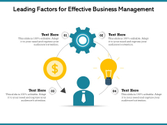 Leading Factors For Effective Business Management Ppt PowerPoint Presentation Icon Show PDF