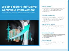 Leading Factors That Deliver Continuous Improvement Ppt PowerPoint Presentation File Graphics Tutorials PDF