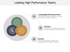 Leading High Performance Teams Ppt PowerPoint Presentation Icon Elements Cpb
