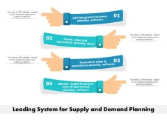 Leading System For Supply And Demand Planning Ppt PowerPoint Presentation Inspiration Examples PDF