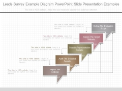 Leads Survey Example Diagram Powerpoint Slide Presentation Examples