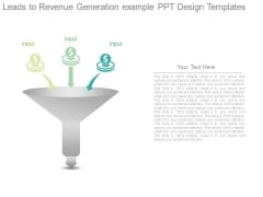Leads To Revenue Generation Example Ppt Design Templates