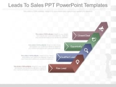 Leads To Sales Ppt Powerpoint Templates