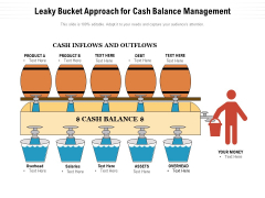 Leaky Bucket Approach For Cash Balance Management Ppt PowerPoint Presentation Summary Model PDF