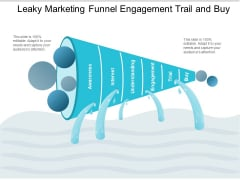 Leaky Marketing Funnel Engagement Trail And Buy Ppt PowerPoint Presentation Show Topics