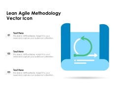 Lean Agile Methodology Vector Icon Ppt PowerPoint Presentation File Background Images PDF